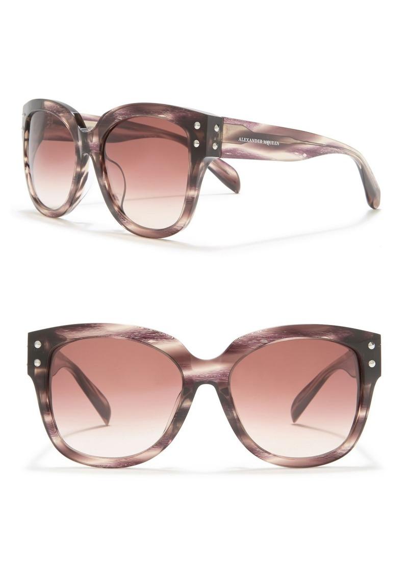Alexander McQueen 57mm Square Oversized Core Sunglasses