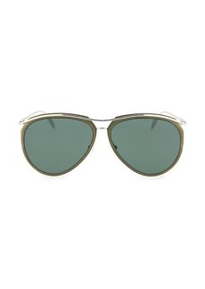 Alexander McQueen 60MM Aviator Core Sunglasses