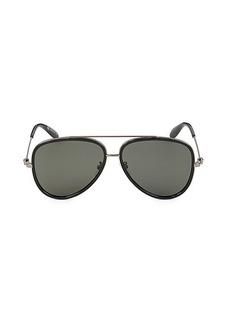 Alexander McQueen 61MM Aviator Core Sunglasses
