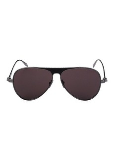 Alexander McQueen 61MM Aviator Sunglasses