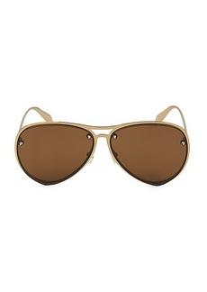 Alexander McQueen 63MM Aviator Sunglasses