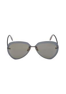 Alexander McQueen 64MM Aviator Sunglasses
