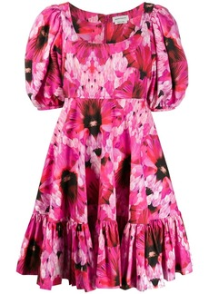 Alexander McQueen abstract floral print dress