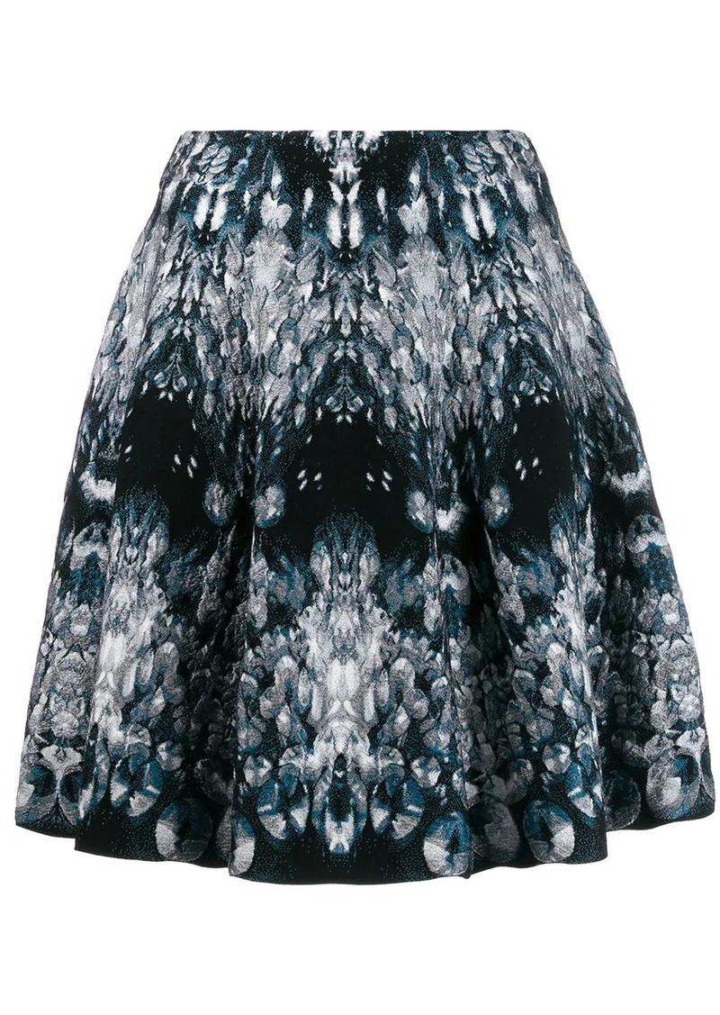 Alexander McQueen abstract pattern knitted skirt