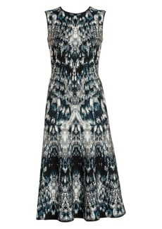 Alexander McQueen Crystal Jacquard Midi Dress