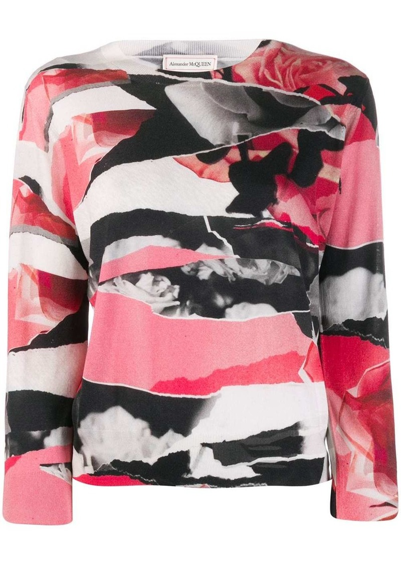 Alexander McQueen abstract print jumper
