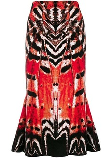 Alexander McQueen abstract print skirt