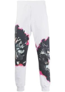 Alexander McQueen abstract print track pants