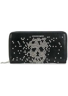 Alexander McQueen abstract skull stud wallet