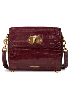 Alexander McQueen 21.5 Croc-Embossed Leather Box Bag