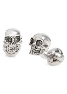 Alexander McQueen 3D Embellished Skull Cuff Links