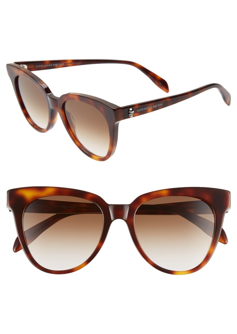Alexander McQueen 53mm Cat Eye Sunglasses