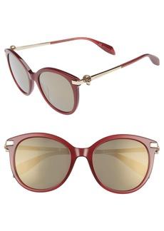 Alexander McQueen 53mm Rounded Cat Eye Sunglasses