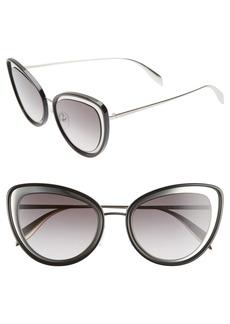 Alexander McQueen 54mm Gradient Cat Eye Sunglasses