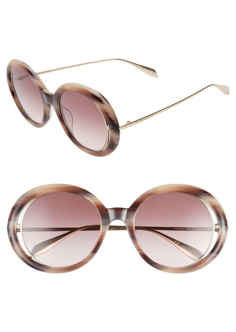 Alexander McQueen 54mm Round Sunglasses