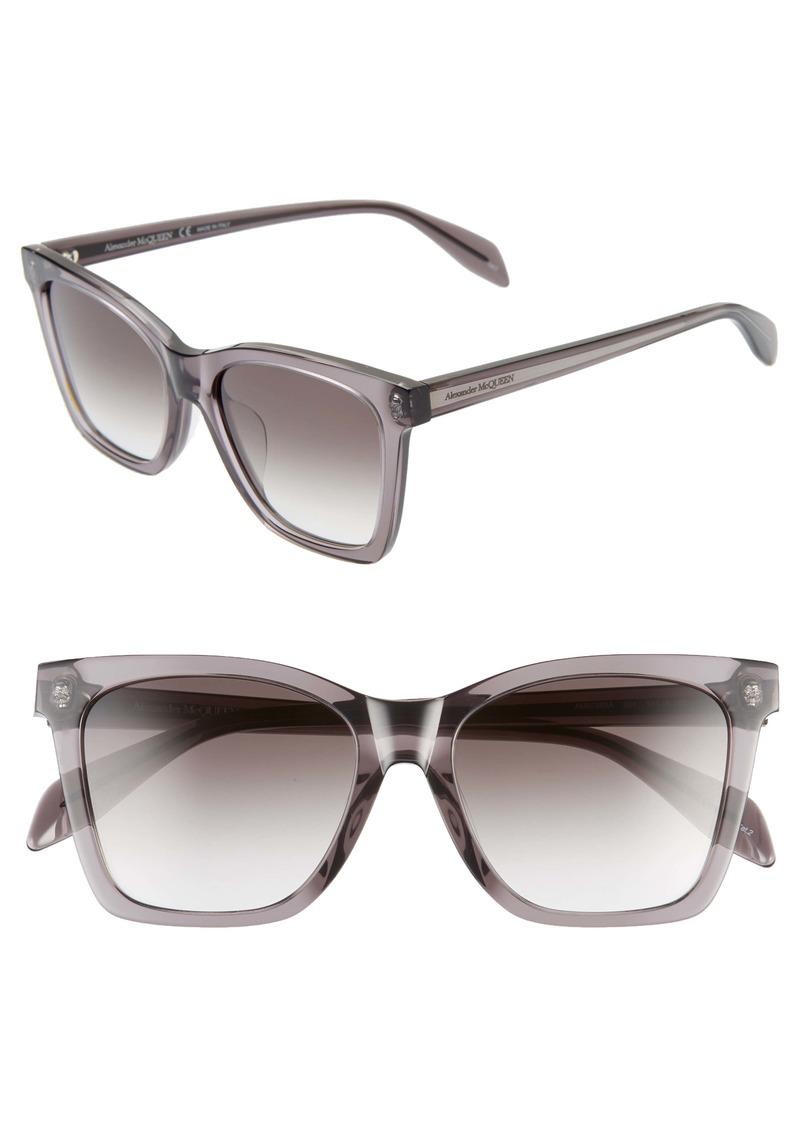 Alexander McQueen 54mm Square Sunglasses