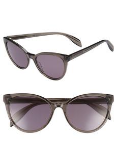 Alexander McQueen 55mm Cat Eye Sunglasses