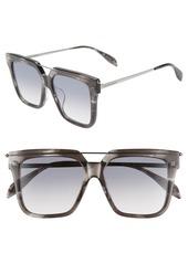Alexander McQueen 55mm Sunglasses