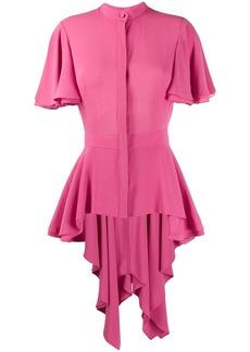 Alexander McQueen silk peplum blouse