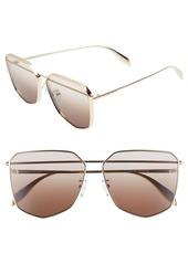 Alexander McQueen 61mm Oversize Sunglasses