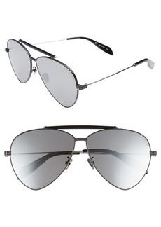 Alexander McQueen 63mm Oversize Aviator Sunglasses