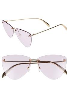 Alexander McQueen 63mm Oversize Rimless Sunglasses