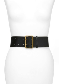 Alexander McQueen 65 Double Prong Leather Belt