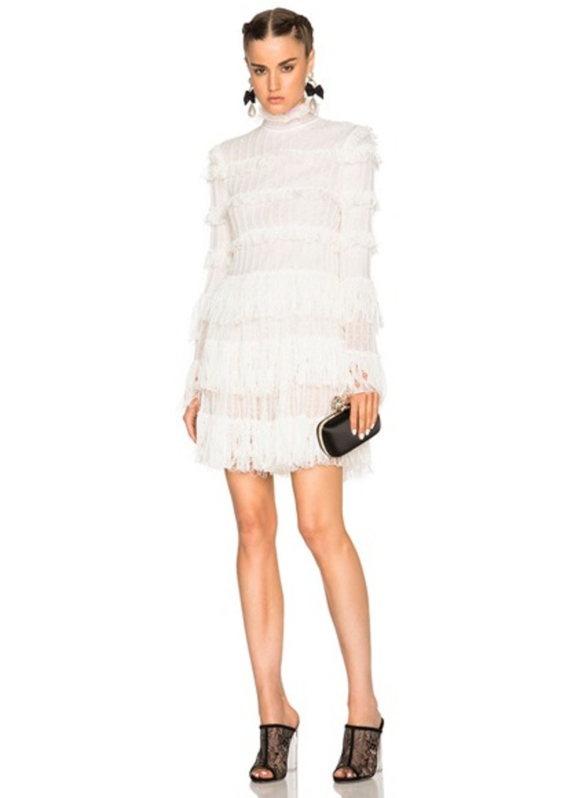 Alexander McQueen A Line Ruffle Mini Dress