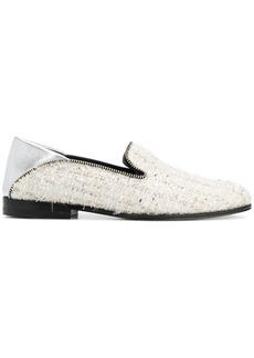 Alexander McQueen bouclé loafers - Nude & Neutrals