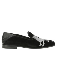Alexander Mcqueen Alexander Mcqueen Griffin Embroidered Loafers
