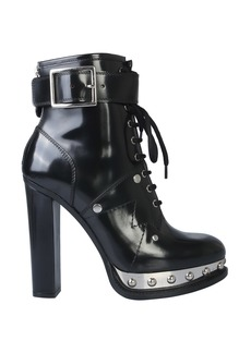 Alexander McQueen Ankle Boot With Plateau And Tread Sole