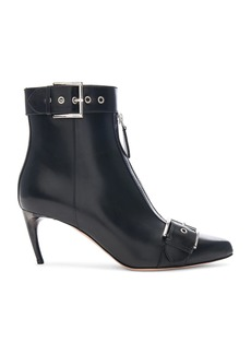 Alexander McQueen Ankle Strap Leather Booties