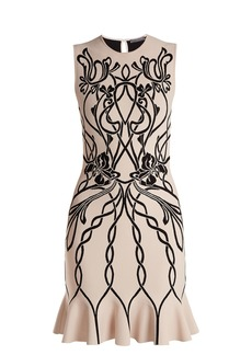 Alexander McQueen Art Nouveau-intarsia sleeveless dress