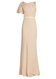 Alexander McQueen Asymmetric one-shoulder crepe gown