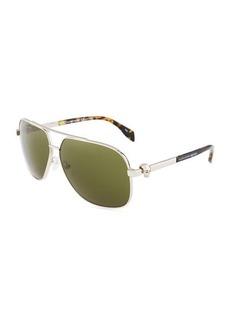 Alexander McQueen Aviator Metal Sunglasses