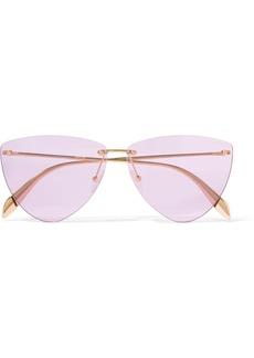 Alexander McQueen Aviator-style gold-tone sunglasses