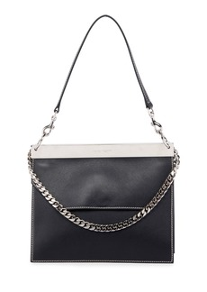 Alexander McQueen Bar Colorblock Leather Shoulder Bag