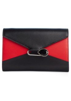 Alexander McQueen Bicolor Pin Envelope Crossbody Wallet