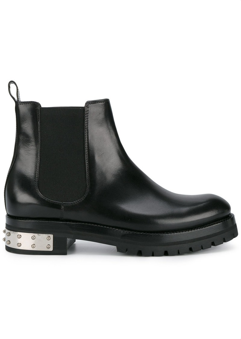 Alexander McQueen Black Mod Leather Ankle boots