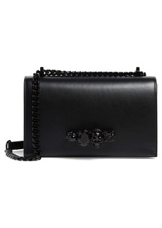 Alexander McQueen Blackout Leather Crossbody Knuckle Bag