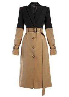 Alexander McQueen Blazer-panel trench coat