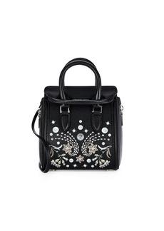 Alexander McQueen Borsa Printed Leather Shoulder Bag