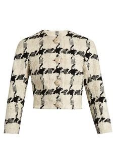 Alexander McQueen Bouclé-tweed cropped jacket