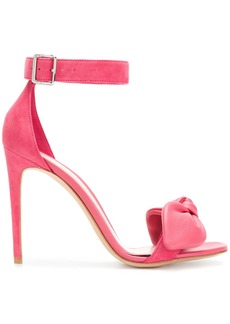 Alexander McQueen bow detail heeled sandals - Pink & Purple