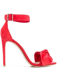 Alexander McQueen bow detail sandals - Red