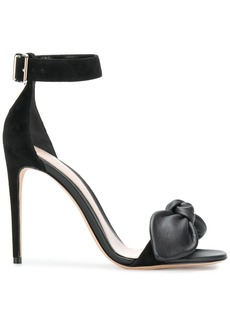 Alexander McQueen bow detail stiletto sandals - Black