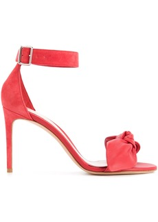 Alexander McQueen bow detail stiletto sandals - Red