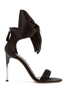 Alexander McQueen Bow-trim satin stiletto sandals