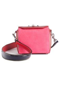 Alexander McQueen Box Bag 16 Croc Embossed Leather & Suede Shoulder Bag
