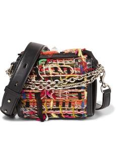 Alexander McQueen Box Bag 16 small fringed tweed shoulder bag